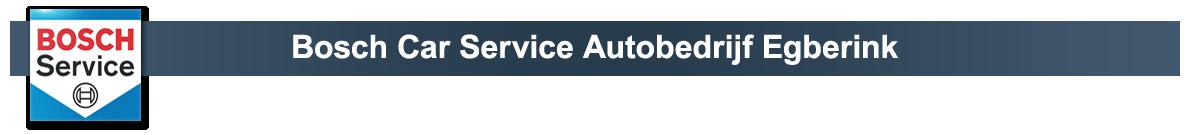 Bosch Car Service Autobedrijf Egberink
